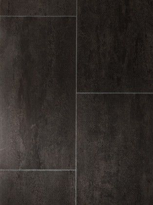 Sol Vinyle Imitation Carrelage Noir Authentic Melbourne