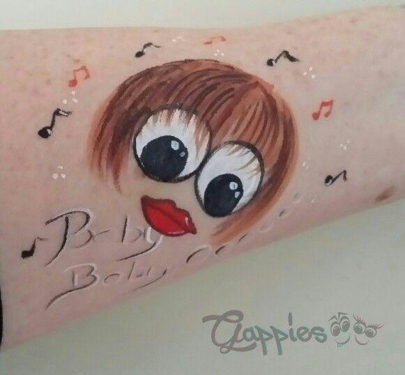 Gappie Bieber painted by Schminkkoppies
