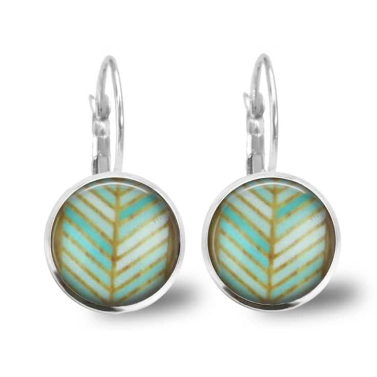 Chatterbox City - Boho Lever Back Glass Cabochon Earrings, $10.00 (http://www.chatterboxcity.com.au/boho-lever-back-glass-cabochon-earrings/)