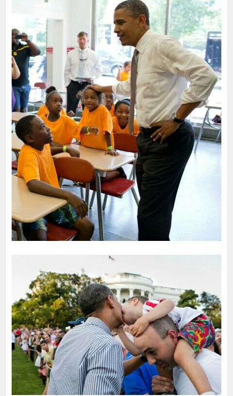President Barack Obama in the classroom.
