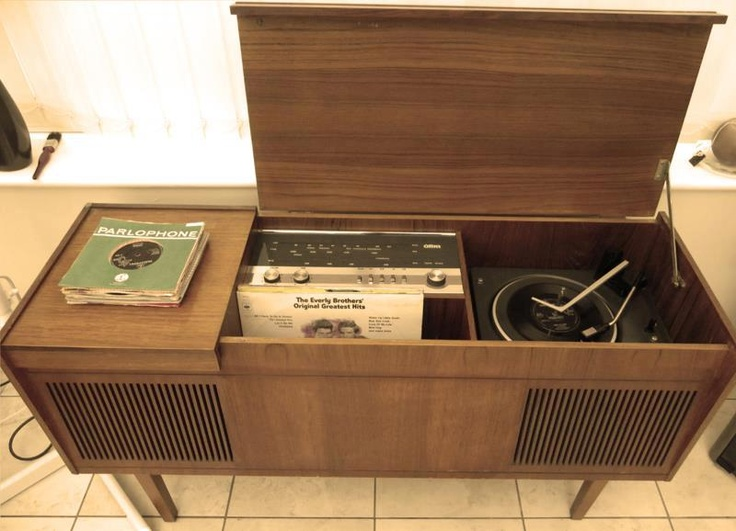 ... I Had A Stereo System Like This. Essentially It Was Just A Record  Player, A Place For Album Storage, And A Couple Large Speakers Inside A  Cabinet.