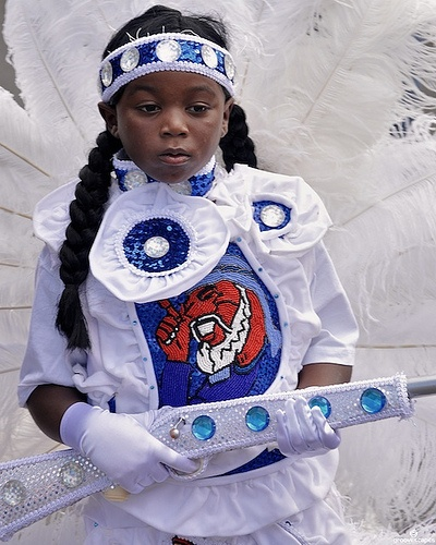 Mardi Gras Indians in New Orleans on Super Sunday 2010.