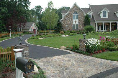 driveway...asphalt and brick/stone border