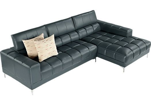 Shop for a Sofia Vergara Sybella Blue Blended Leather 2 Pc Sectional at Rooms To Go. Find Leather Sectionals that will look great in your home and complement the rest of your furniture.