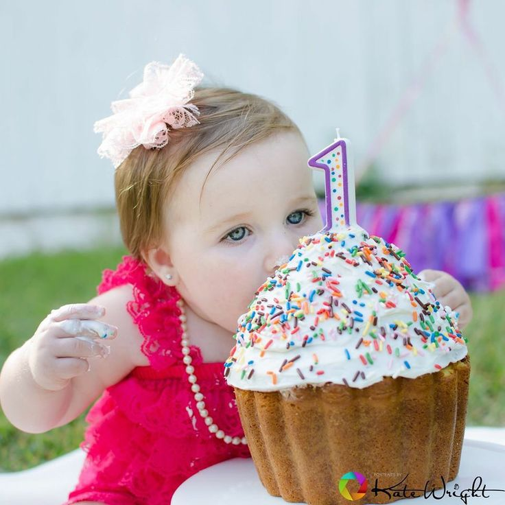 Serious about her cake