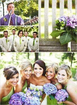 hydrangea wedding bouquet by riczkho