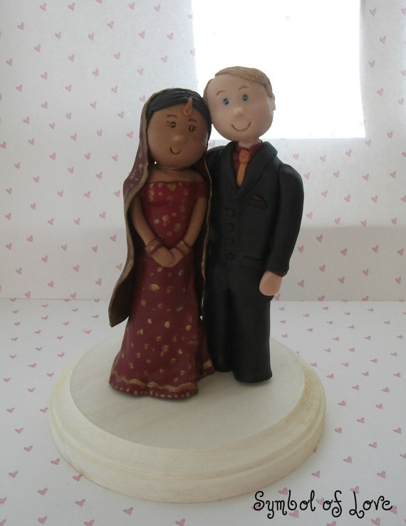 polymer clay indian wedding cake topper $60