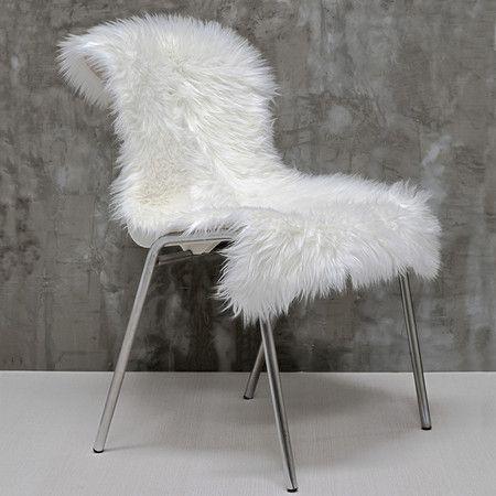 Pelego decorativo em pelo sintético - Branco - Decohouse