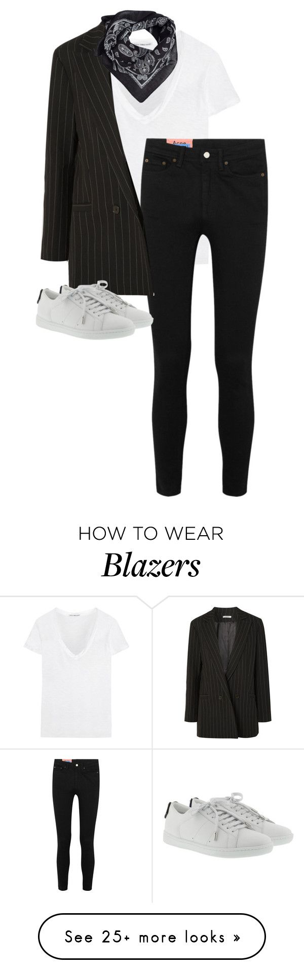 """""""Untitled #13642"""" by alexsrogers on Polyvore featuring James Perse, Acne Studios, Ganni, MANGO and Yves Saint Laurent"""
