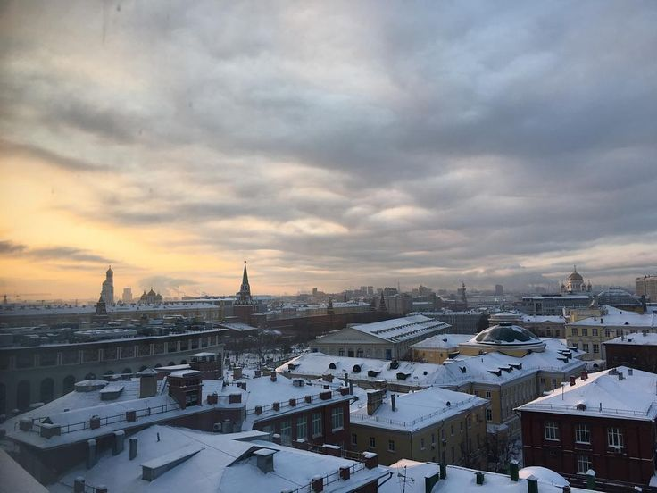 Good morning Moscow. You're cold. But damn pretty.