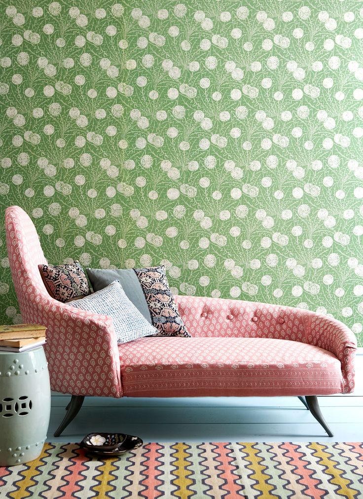 I love the different patterns in one room. :)