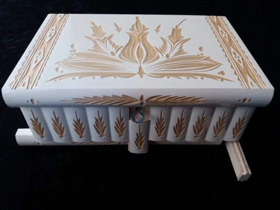 Premium white giant big huge puzzle box magic beautiful special carved wooden jewelry storage treasure box gift for women mom girl wizard
