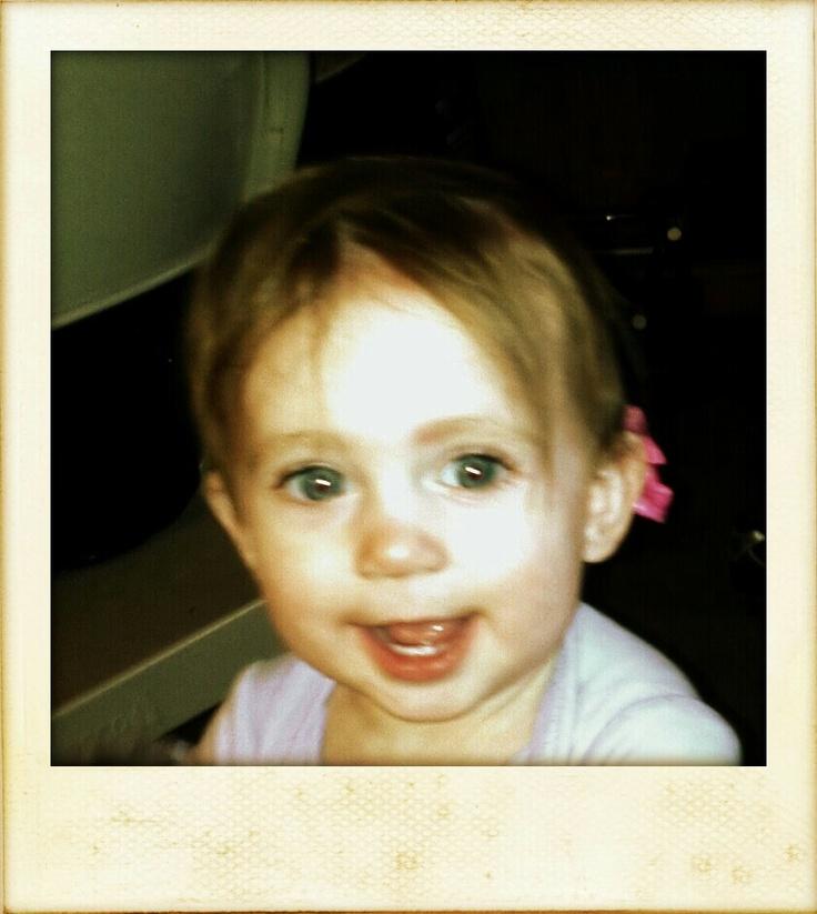 My granddaughter at ten months