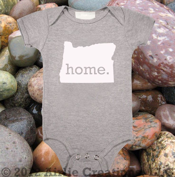 Oregon Home State Unisex Baby One Piece Bodysuit - Boys or Girls by HomelandTees on Etsy https://www.etsy.com/listing/123760597/oregon-home-state-unisex-baby-one-piece