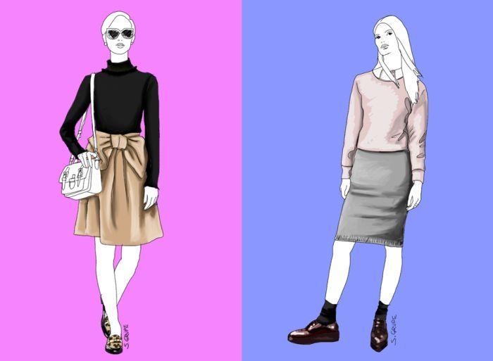 Sie möchten flache Schuhe zu Röcken tragen? Das geht, wenn Sie ein paar Fashion-Tipps beachten.