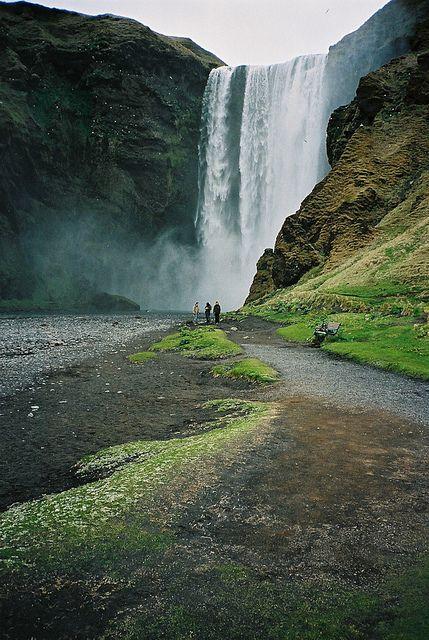 Skogafoss waterfalls, Near Vik, Iceland. Photo by Dennis Zorn via flickr