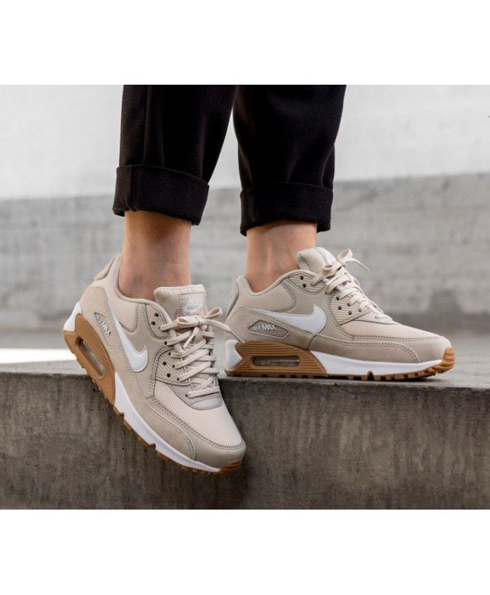 25d42b26 Nike Air Max 90 Trainers In Oatmeal White Brown | 3 in 2019 | Nike ...