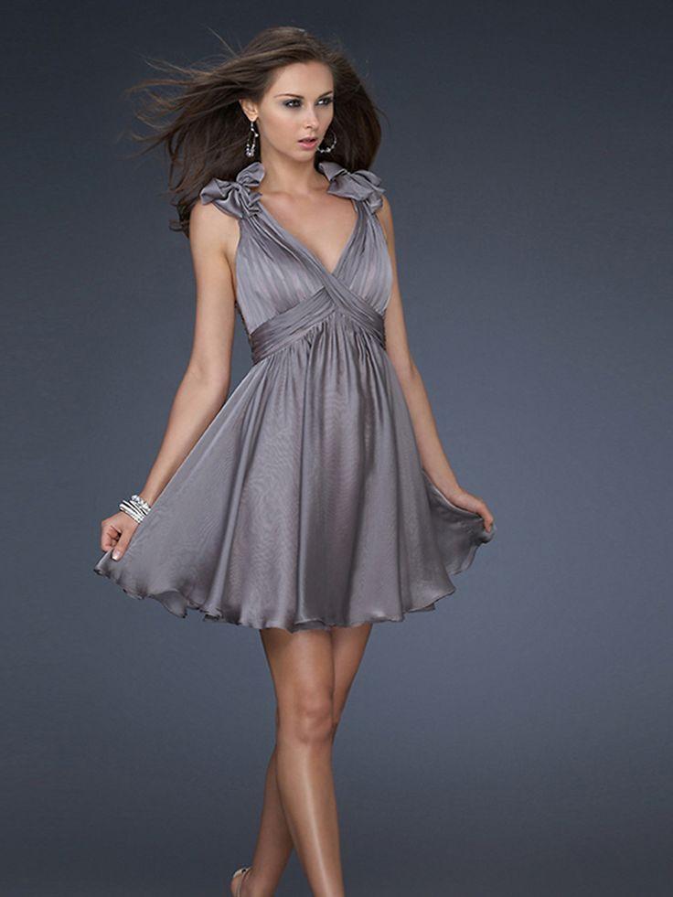 Ornate-A-Line-Grey-V-neck-Sleeveless-Pleated-Wrap-elegant-cocktail-dresses-