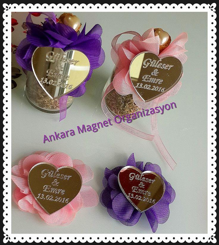 lavantalı söz nişan şişeleri özel tasarım isme özel kalp ayna iletişim: facebook/Ankara Magnet Organizasyon