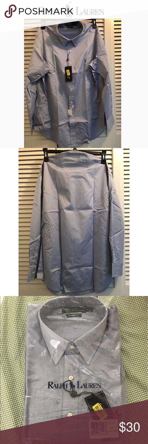 Ralph Luaren Dress shirt (16 1/2 32-33) NWT | Classic Fit 16 1/2 32-33 | Light Blue | From a Smoke/Pet Free home Polo by Ralph Lauren Shirts Dress Shirts