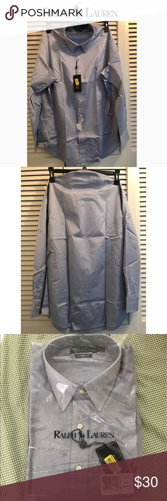 Ralph Luaren Dress shirt (16 1/2 32-33) NWT | Classic Fit 16 1/2 32-33 | Light Blue | From a Smoke/Pet Free home Polo by Ralph Lauren Shirts Dress Shirts