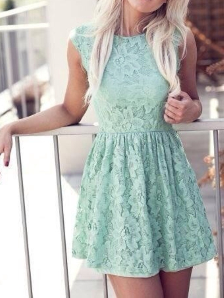 Awesome Mint Skater Dress