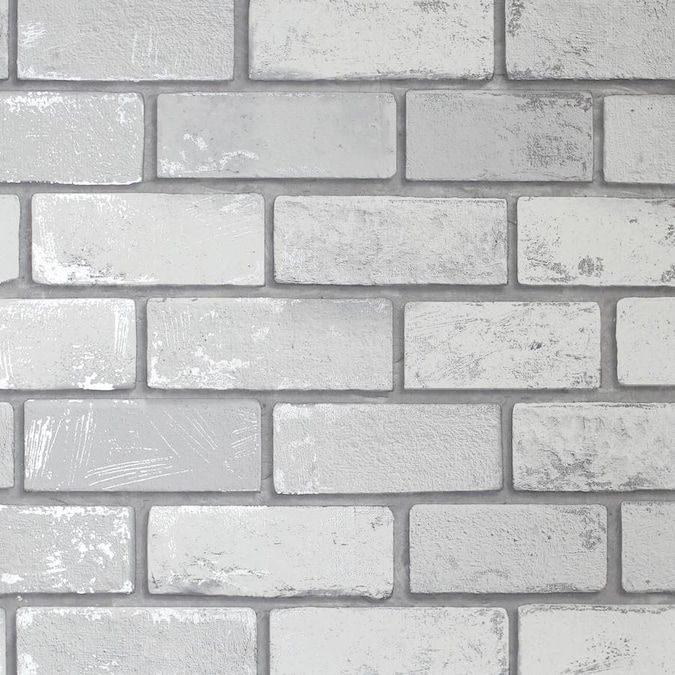 Transform Transform White Brick Peel And Stick Wallpaper Lowes Com In 2021 Faux Brick Wallpaper Brick Wallpaper White Brick Wallpaper