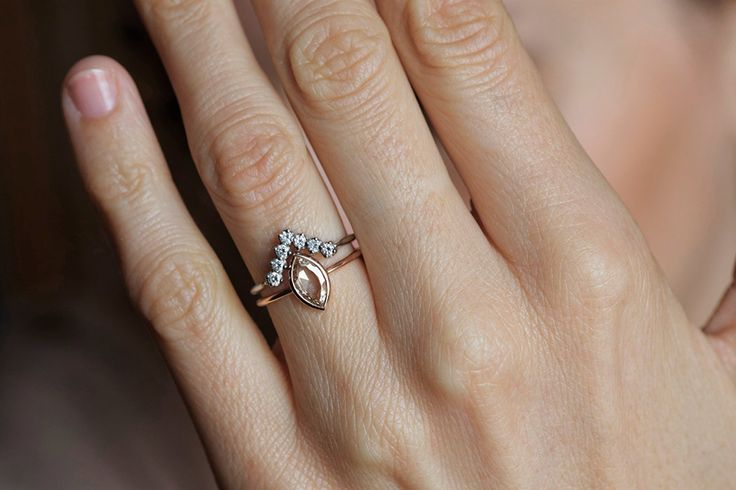 Set of Marquise and Crown Diamond Ring | Capucinne