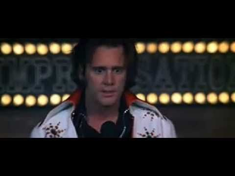 "Scene from ""Man on the Moon"" -- Jim Carrey does a spot-on imitation of comedian Andy Kaufman."