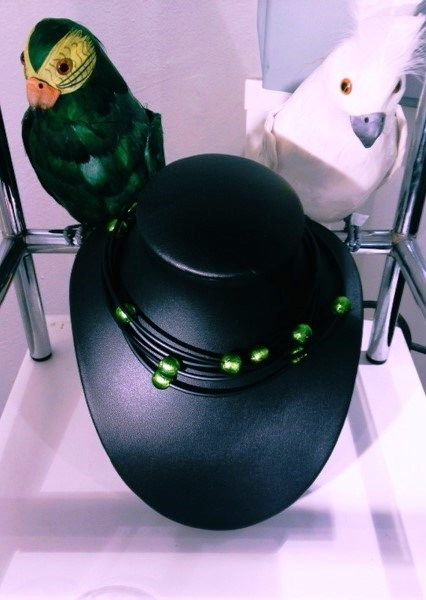 Looks like the black rubber with green murano beads necklace has some friends!