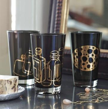Jason Polan Glass Tumblers - eclectic - glassware - West Elm