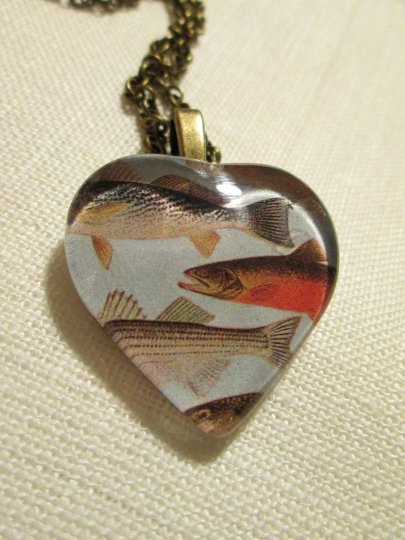 Fish pendant historical drawing, made by me and available @ etsy.com/shop/palilicium♥   Great for anyone who loves the ocean, sealife, or fish!