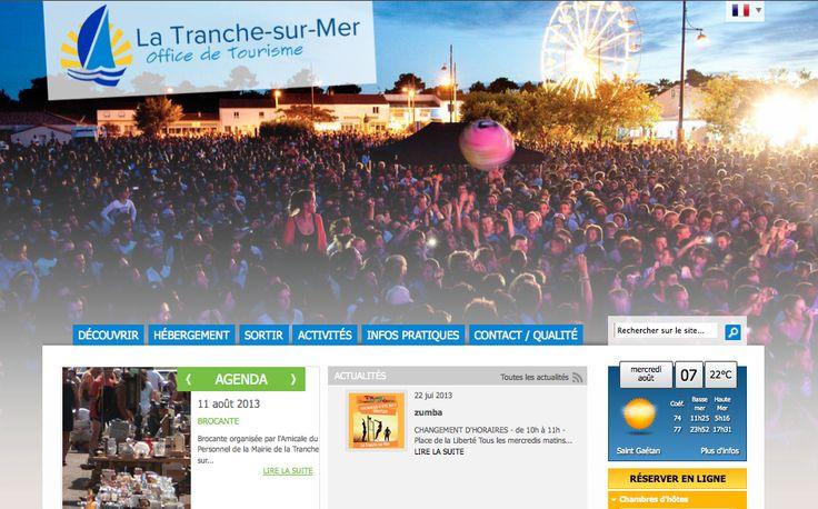 OT LA TRANCHE SUR MER - CONCEPTION DU SITE (2012) : analyse des besoins, conception et réalisation du site web & accompagnement webmarketing.