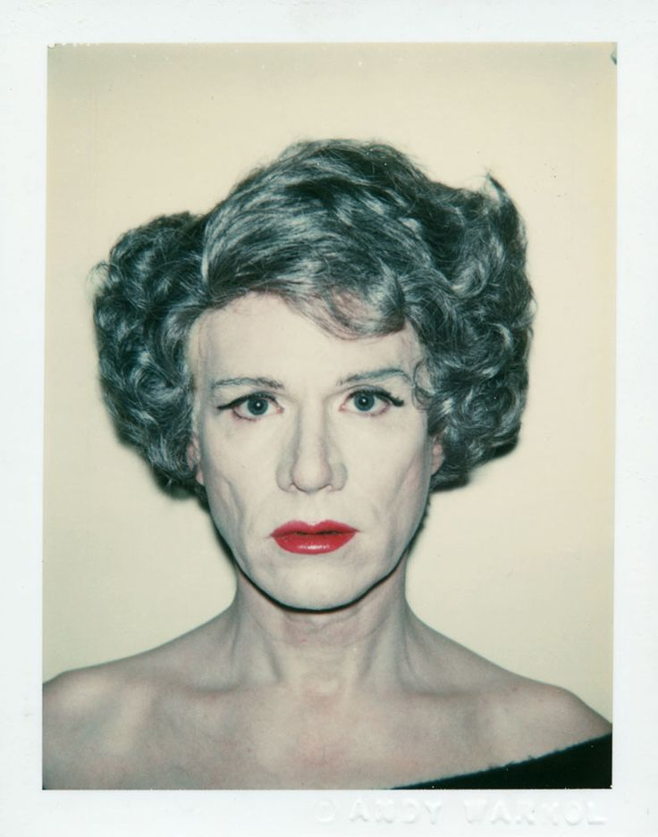 Andy Warhol, Self-Portrait. surprise. never saw this before. why?