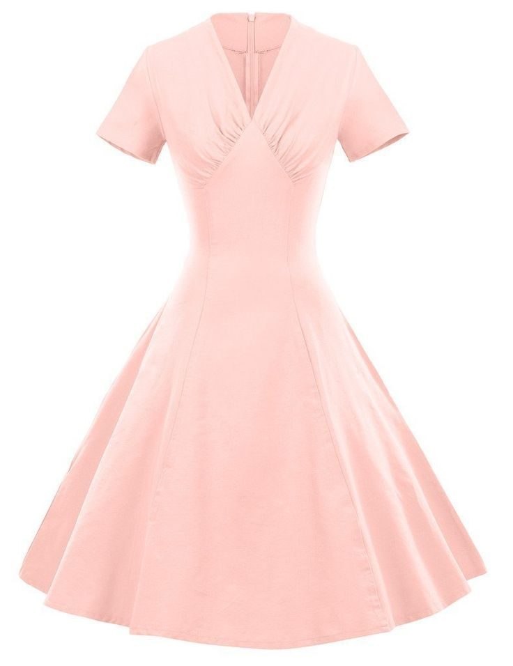 GownTown 1950s Retro Vintage Dresses Party Swing Stretchy Dresses: Amazon Fashion