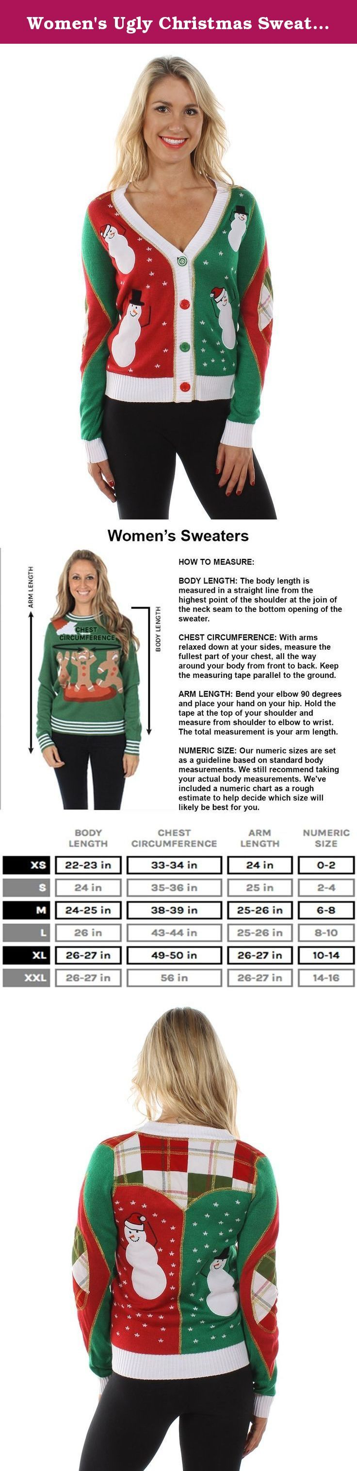 Women's Ugly Christmas Sweater - Snowmen Dancing Cardigan L. Tipsy Elves Christmas Sweaters are perfect for your Ugly Christmas Sweater party, holiday pub crawls, the ski cabin, and they always make a great gift!. Our Christmas Sweaters are featured on ABC's Shark Tank, the TODAY Show, ABC's Wipeout!, People Magazine, Trendhunter, and much more!. See all of Tipsy Elves' Funny Christmas sweaters sold right here on Amazon. Shop over 50 exclusive designs for men and women! All ugly sweaters…