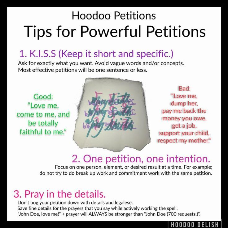 Tips For Powerful Petitions #hoodoo