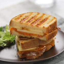 Sandwich with Apple, Bacon & Cheddar. I'd try that.