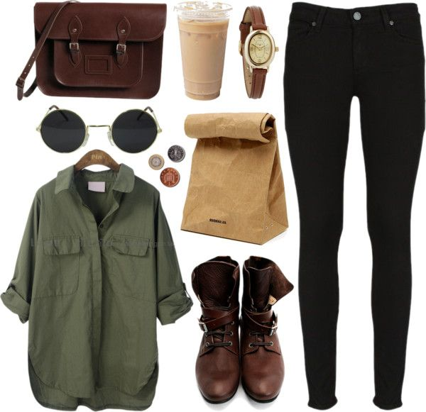 """Army green"" by hanaglatison ❤ liked on Polyvore:"