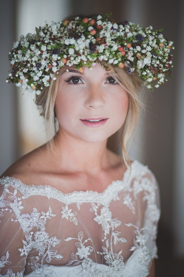 Bridal hair accessories melbourne cbd - Humanist Wedding In Crear Scotland With Bride In Bespoke Gown By Flossy Dossy With Jimmy Choo Heels And A Midsummer Nights Dream Inspired Flower Crown
