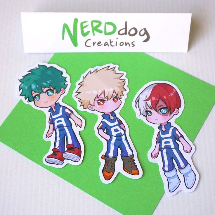Custom my hero academia sticker set anime laptop
