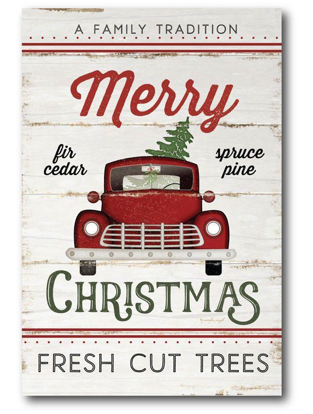 Merry Christmas Farm Truck Sign Christmas Christmas Farm