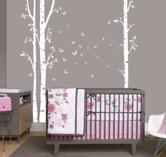 36 best images about tree silhouettes on pinterest more trees aspen trees and baby girl rooms - Lampions kinderzimmer ...
