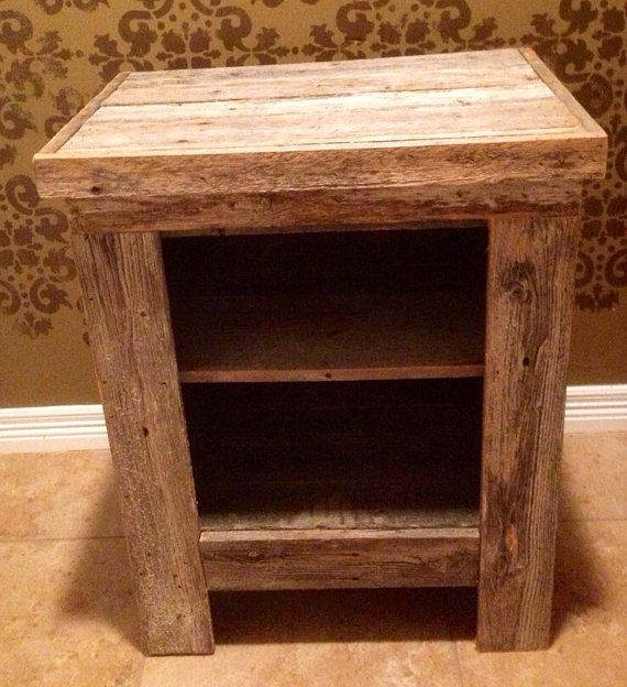 Barn Wood Nightstand by RestorationCrown on Etsy, $70.00 - 114 Best Reclaimed Barn Wood Images On Pinterest