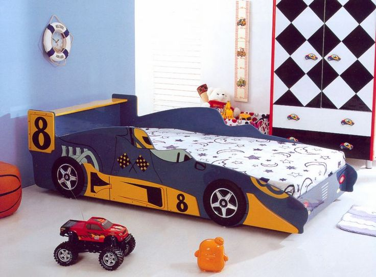 Print of Race Car Bed for Toddlers, Race Off to Kids' Dreamland