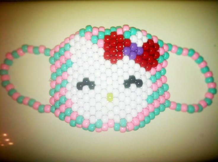 17 best images about kandi bead masks on pinterest edc for Hello kitty mask template