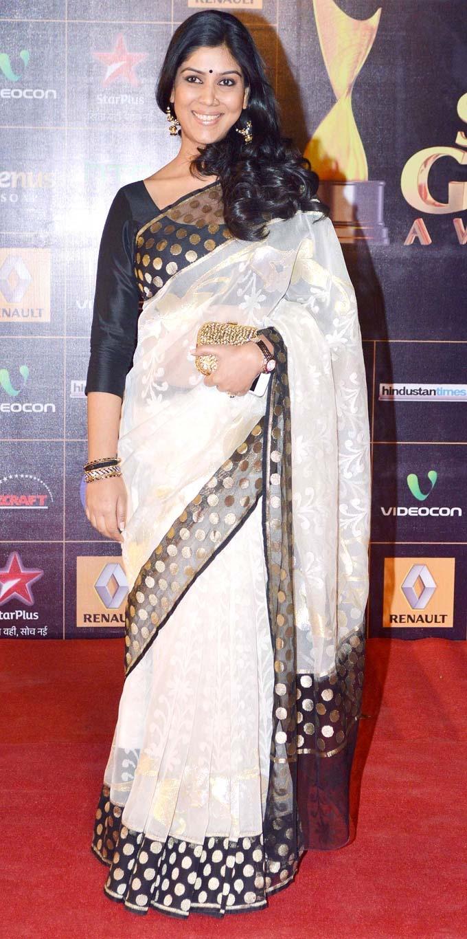 Sakshi Tanwar at Star Guild Awards 2013 #Bollywood #Fashion