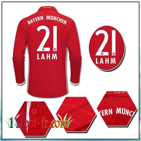 Maillot de Foot FC Bayern Munich LAHM 21 Domicile Rouge 16/17
