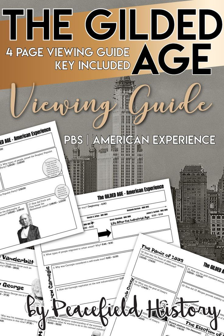 The Gilded Age Viewing Guide PBS American Experience in
