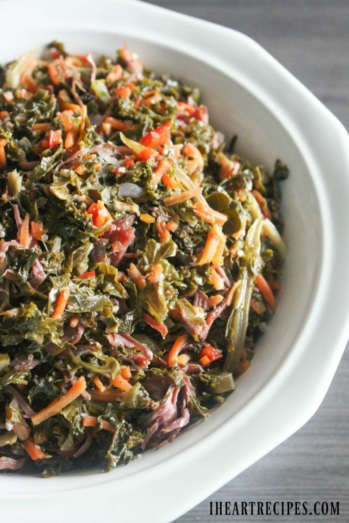 Braised Southern Style Kale Recipe Greens Recipe Soul Food Braised Greens
